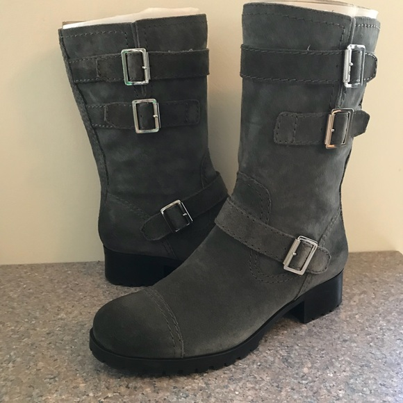 7d7914ea957 Marc Fisher grey suede leather boots  arianna . M 5aad8c1fa44dbed93b3c9683
